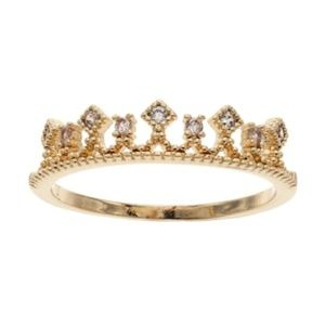 LC Lauren Conrad Crown Ring